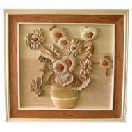 Sunflower 3D Handcarved Wooden Picture