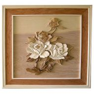 Flower 3D Handcarved Wooden Picture