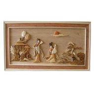 Ladies 3D Handcarved Wooden Pictures