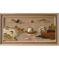 River Scenery 3D Handcarved Wooden Pictures
