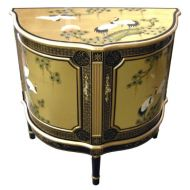Gold Leaf Half Moon Cabinet
