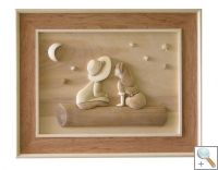 Innocence 3D Handcarved Wooden Pictures