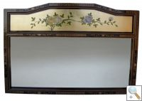 Large Golf Leaf Mirror with Floral Design