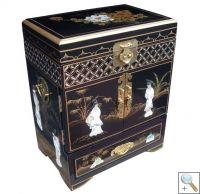 Mother Of Pearl Tall Jewellery Box w/drawer