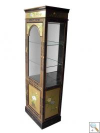 Gold Leaf Display Cabinet with Mirror